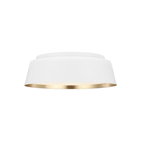 Generation Lighting EF1003MWT Ellen DeGeneres Asher 3 Light Ceiling Light in Matte White