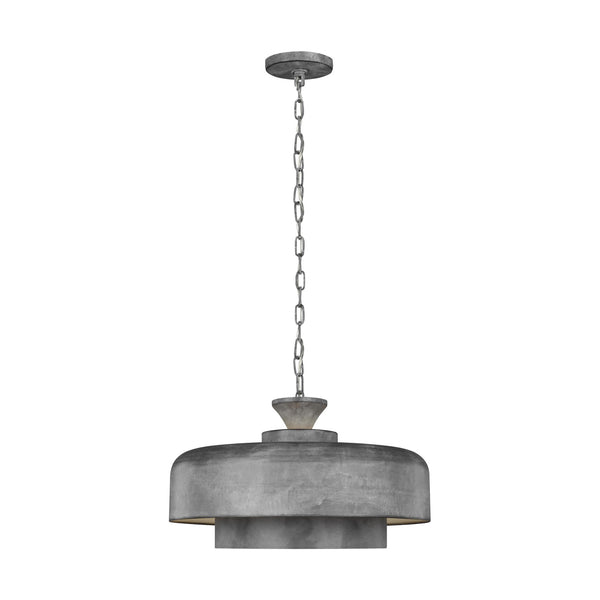 Generation Lighting EP1001WGV Ellen DeGeneres Haymarket 1 Light Pendant in Weathered Galvanized