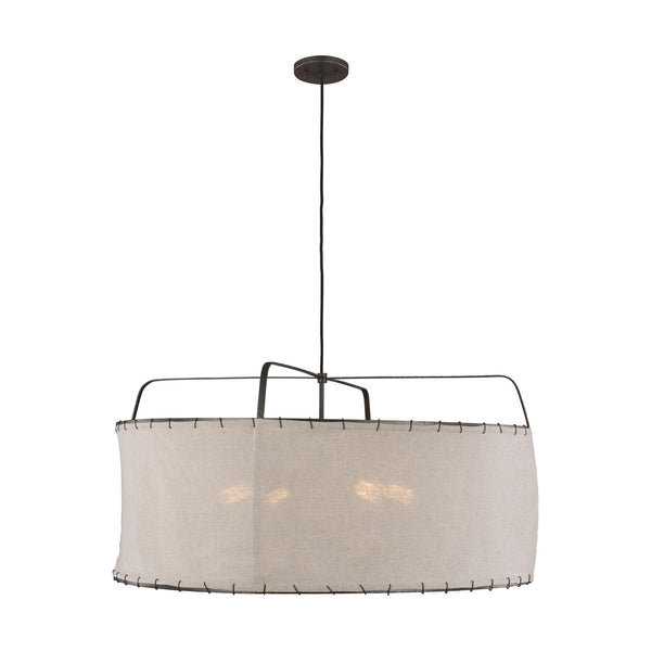 Generation Lighting EP1114AI Ellen DeGeneres Dunne 4 Light Pendant in Aged Iron