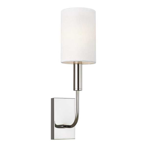 Generation Lighting EW1001PN Ellen DeGeneres Brianna 1 Light Wall / Bath Light in Polished Nickel