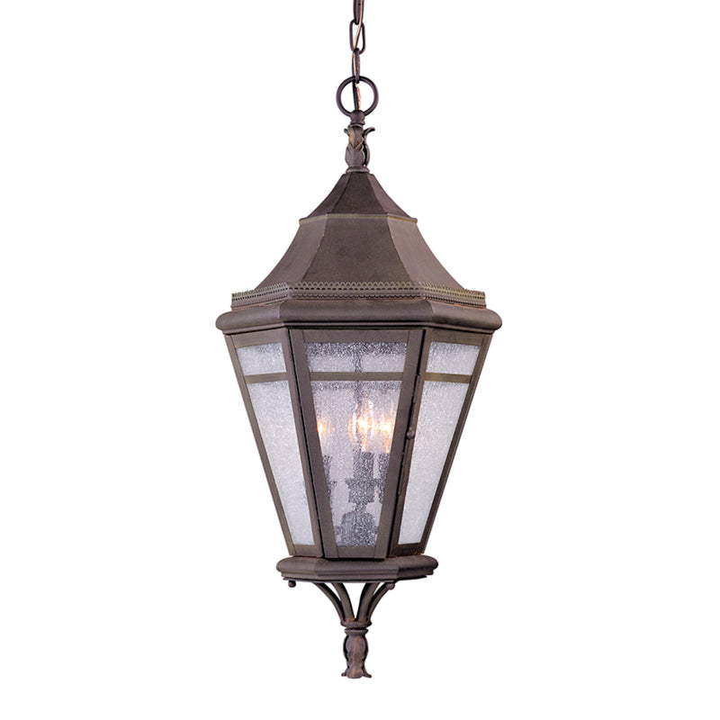 Troy Lighting F1276NR Morgan Hill 3lt Hanging Lantern Large in Solid Brass