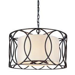 Troy Lighting F1285DB Sausalito 5lt Pendant Dining in Hand-Worked Iron