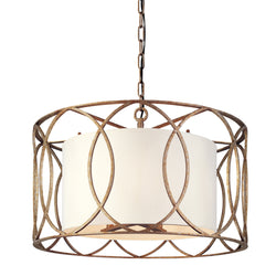 Troy Lighting F1285SG Sausalito 5lt Pendant Dining in Hand-Worked Iron