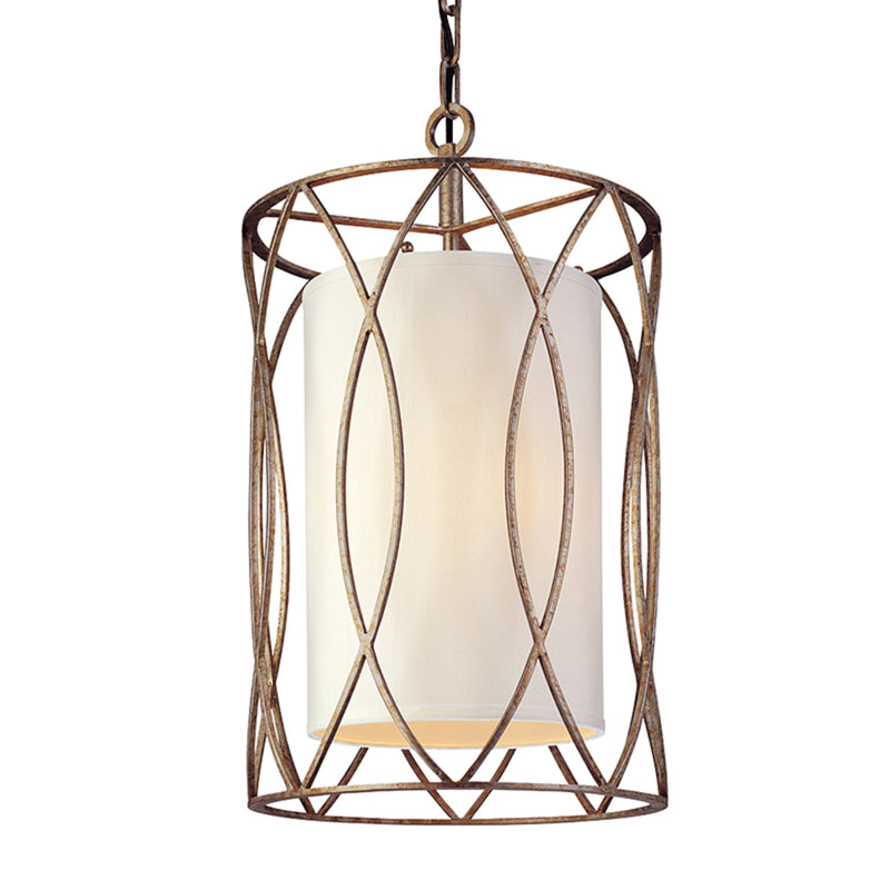 Troy Lighting F1287SG Sausalito 3lt Pendant Small in Hand-Worked Iron