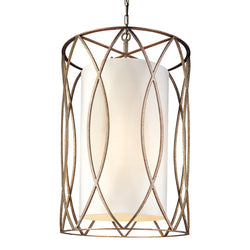 Troy Lighting F1288SG Sausalito 8lt Pendant Large in Hand-Worked Iron