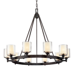 Troy Lighting F1710FR Arcadia 10lt Chandelier in Hand-Worked Iron