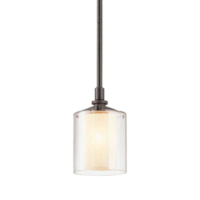 Troy Lighting F1719FR Arcadia 1lt Pendant Mini in Hand-Worked Iron
