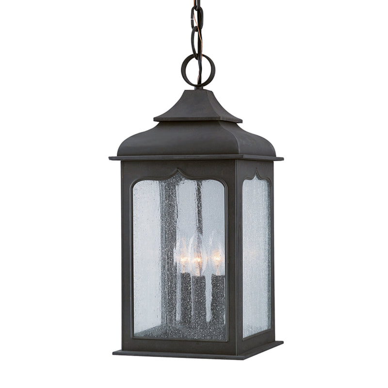 Troy Lighting F2017CI Henry Street 3lt Hanging Lantern Medium in Hand-Worked Iron