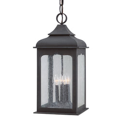 Troy Lighting F2018CI Henry Street 4lt Hanging Lantern Large in Hand-Worked Iron