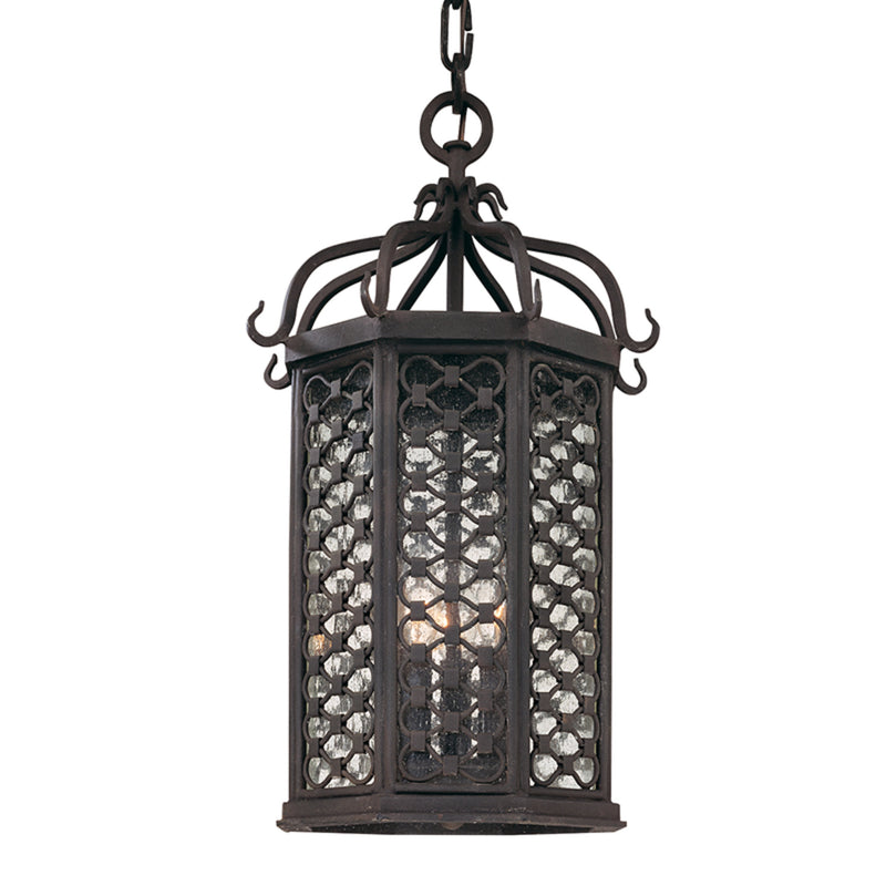 Troy Lighting F2377OI Los Olivos 3lt Hanging Lantern Medium in Hand-Worked Iron