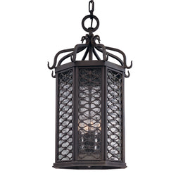 Troy Lighting F2378OI Los Olivos 4lt Hanging Lantern Large in Hand-Worked Iron