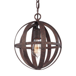Troy Lighting F2511WI Flatiron 1lt Pendant Small in Hand-Worked Iron