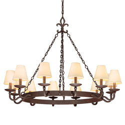 Troy Lighting F2716 Lyon 12lt Chandelier Large in Hand-Worked Iron
