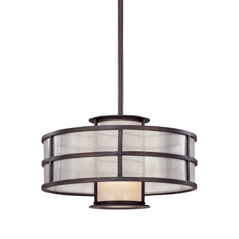 Troy Lighting F2735 Discus 1lt Pendant Small in Hand-Worked Iron