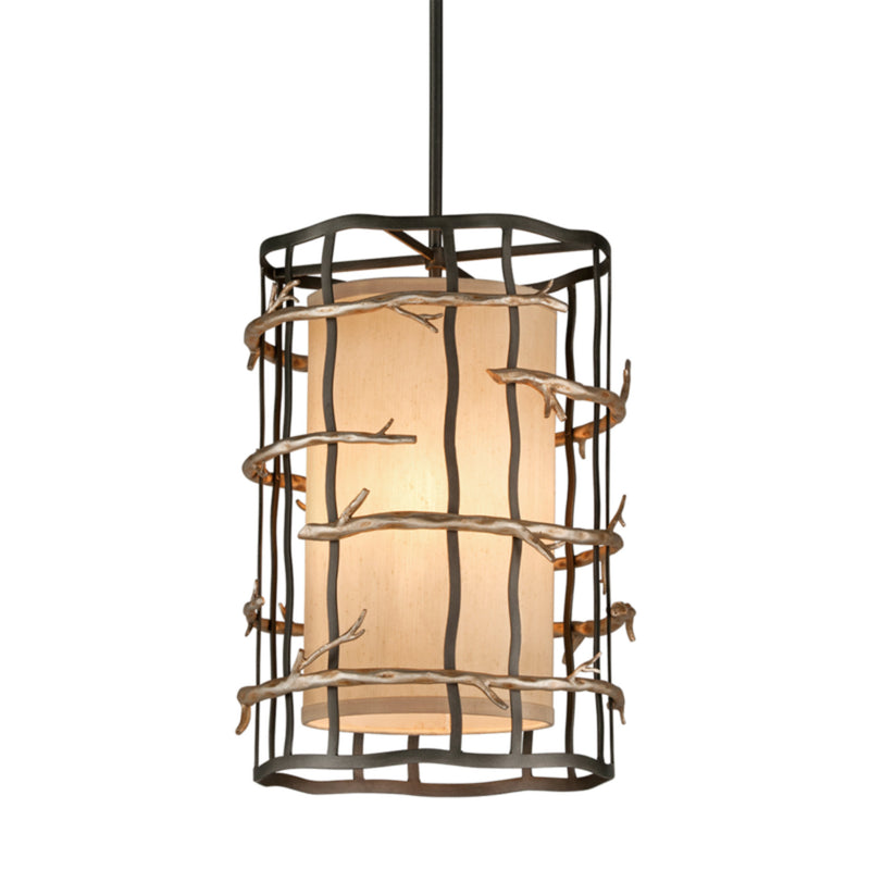 Troy Lighting F2883 Adirondack 3lt Pendant Entry Medium in Hand-Worked Iron