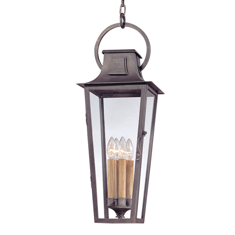 Troy Lighting F2967 Parisian Square 4lt Hanging Lantern Large in Hand-Forged Iron