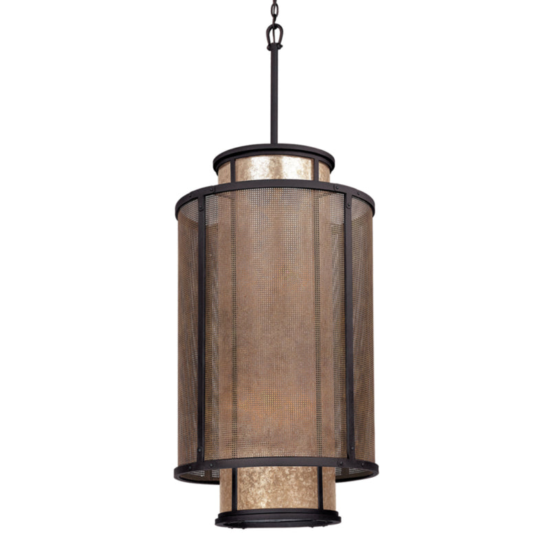 Troy Lighting F3104 Copper Mountain 8lt Pendant Entry in Hand-Worked Iron