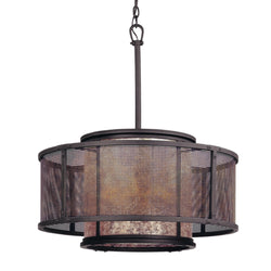 Troy Lighting F3105 Copper Mountain 6lt Pendant Dining in Hand-Worked Iron