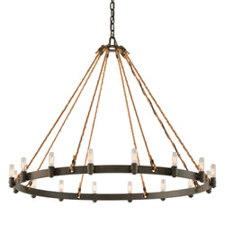 Troy Lighting F3127 Pike Place 16lt Pendant Extra Large in Solid Aluminum