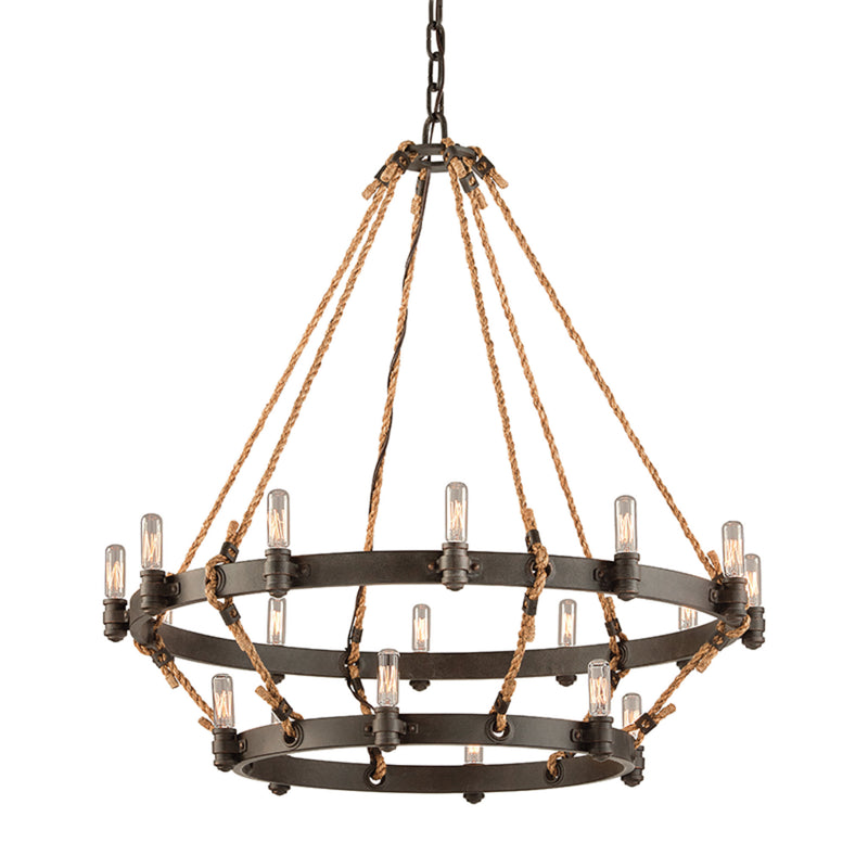 Troy Lighting F3128 Pike Place 18lt Pendant 2 Tier in Solid Aluminum