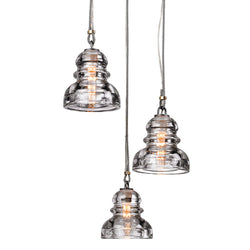 Troy Lighting F3133 Menlo Park 3lt Pendant Mini in Hand-Worked Iron