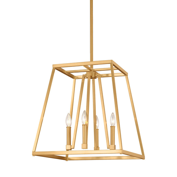 Generation Lighting F3150/4GSB Feiss Conant 4 Light Pendant in Gilded Satin Brass