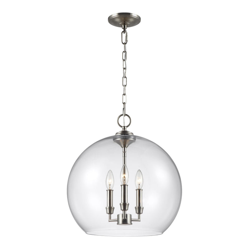 Generation Lighting F3155/3SN Feiss Lawler 3 Light Pendant in Satin Nickel
