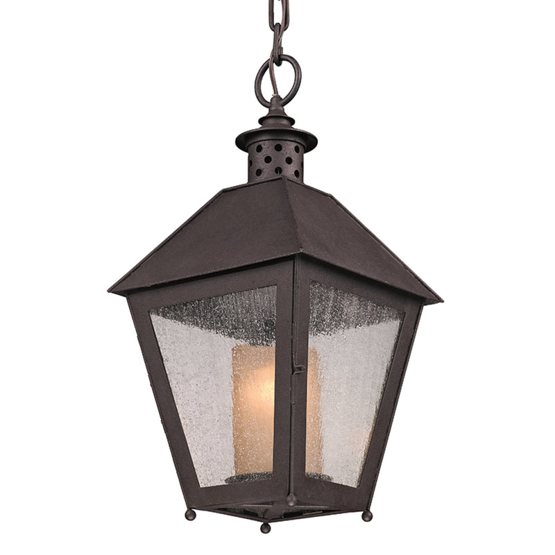 Troy Lighting F3297 Sagamore 1lt Hanger 1lt Hanger Medium in Hand-Forged Iron