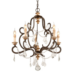 Troy Lighting F3515 Bordeaux 5lt Chandelier Small in Hand-Worked Iron