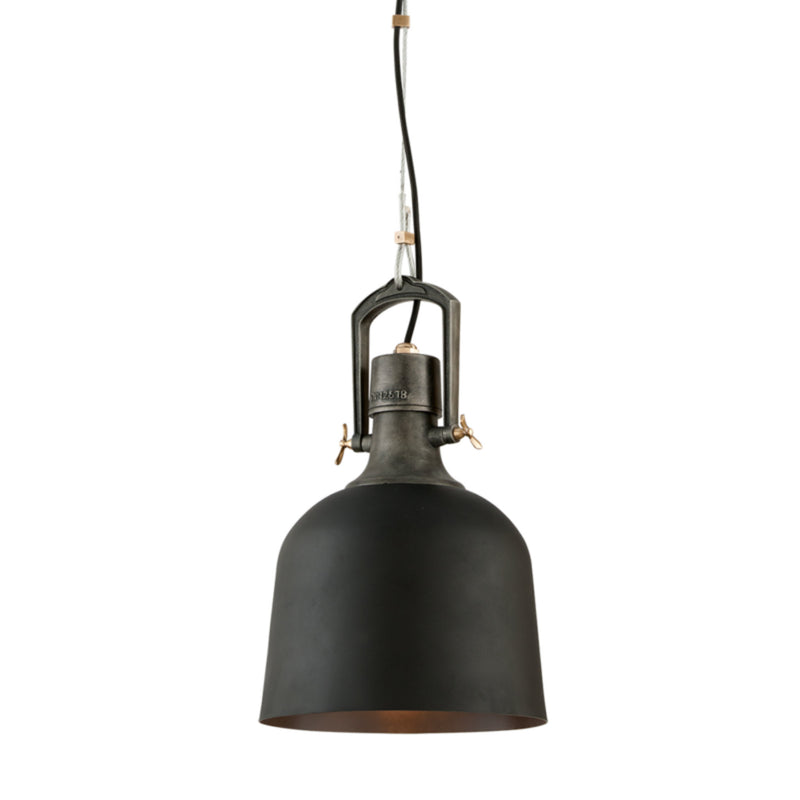 Troy Lighting F3545 Hangar 31 1lt Pendant Small in Hand-Worked Iron