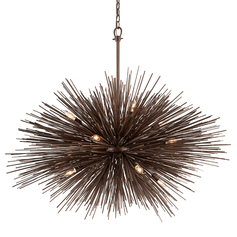 Troy Lighting F3669 Uni 12lt Pendant Extra Large in Hand-Worked Iron