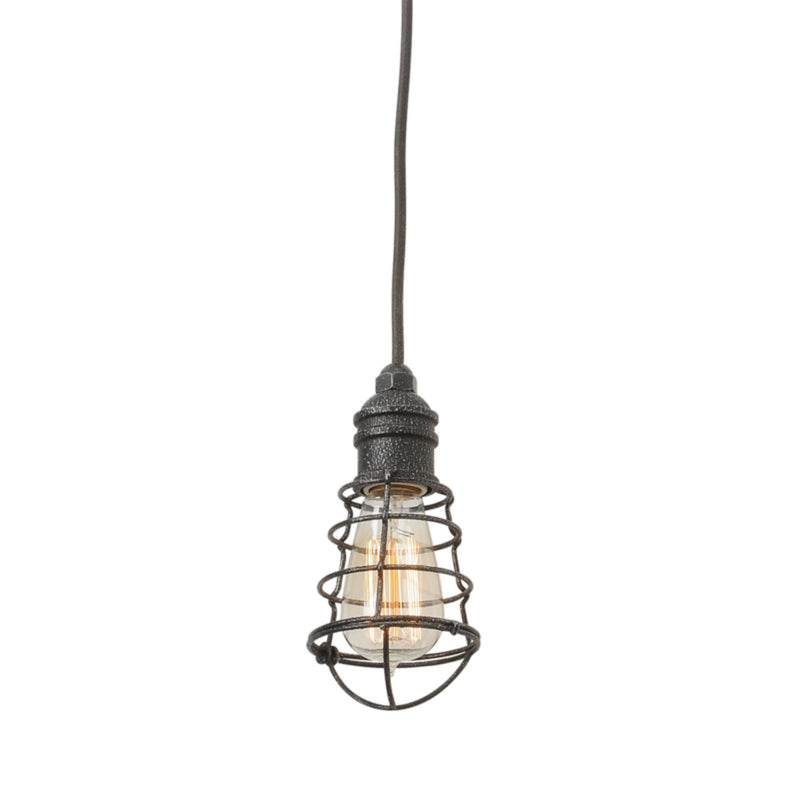 Troy Lighting F3813 Conduit 1lt Mini Pendant Mini in Hand-Worked Iron