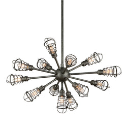 Troy Lighting F3815 Conduit 13lt Chandelier Large in Hand-Worked Iron