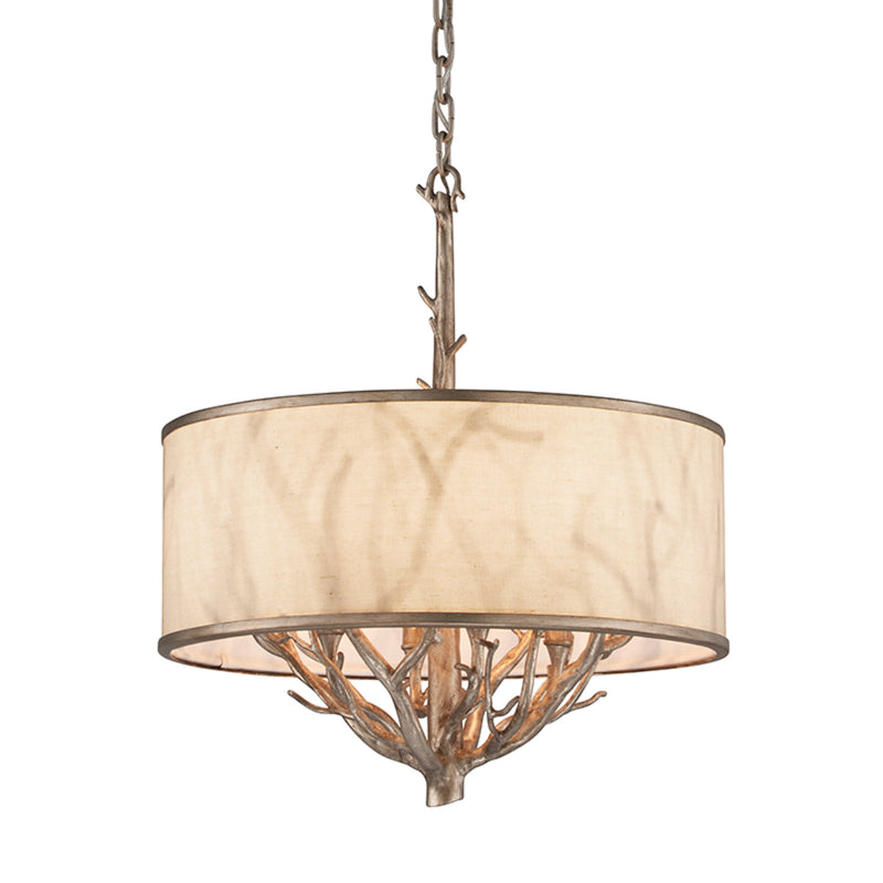 Troy Lighting F4104 Whitman 4lt Pendant Small in Hand-Worked Iron