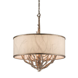 Troy Lighting F4106 Whitman 6lt Pendant Medium in Hand-Worked Iron