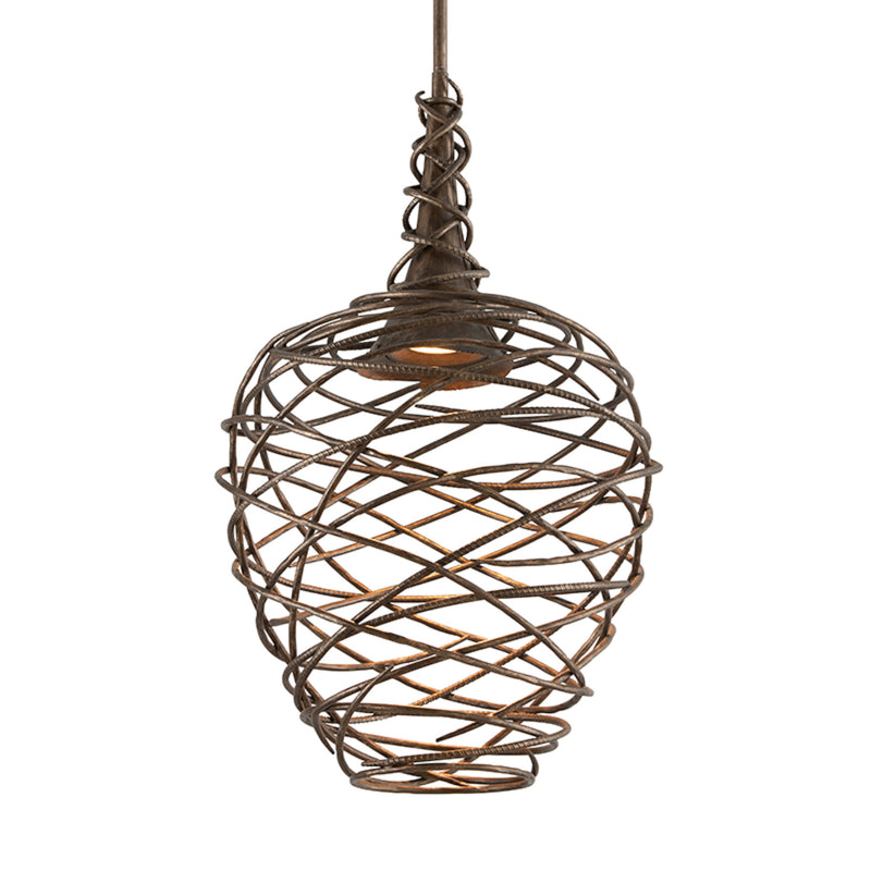 Troy Lighting F4185 Sanctuary 1lt Pendant Medium in Hand-Worked Iron