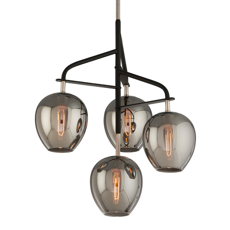 Troy Lighting F4295 Odyssey 4lt Pendant Small in Hand-Worked Iron