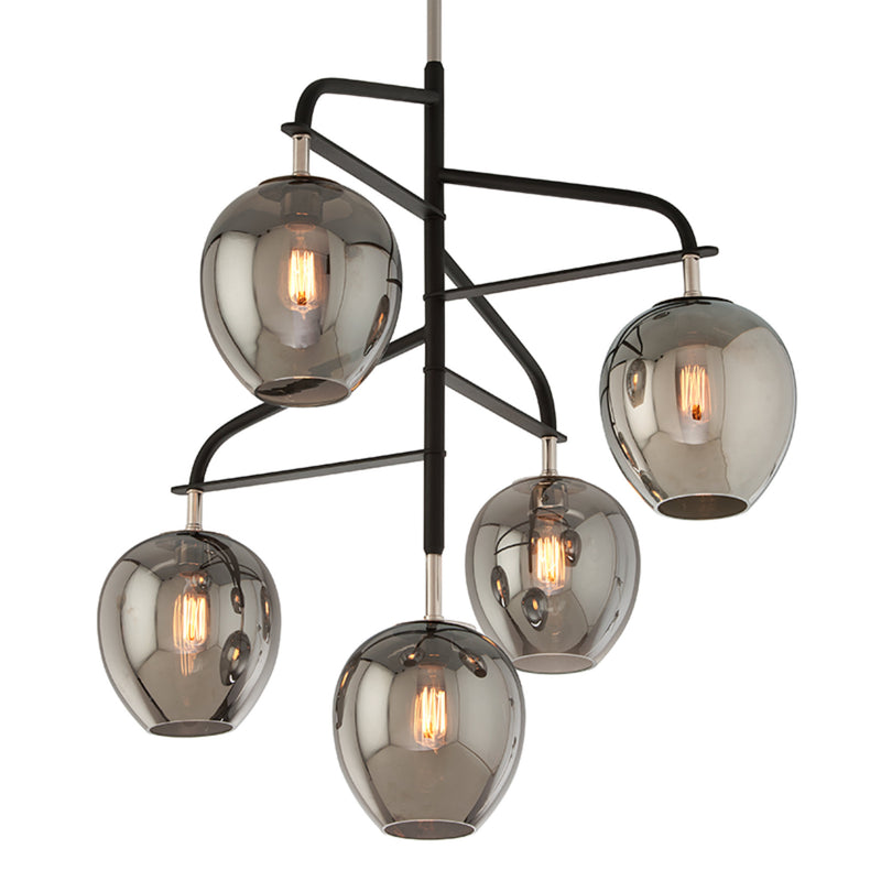 Troy Lighting F4297 Odyssey 5lt Pendant Large in Hand-Worked Iron