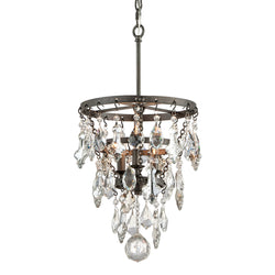 Troy Lighting F4315 Meritage 3lt Pendant Small in Hand-Worked Iron