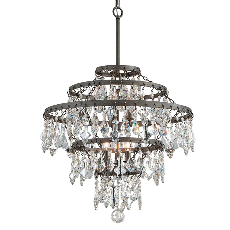 Troy Lighting F4317 Meritage 6lt Chandelier Large in Hand-Worked Iron