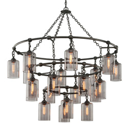 Troy Lighting F4426 Gotham 20lt Pendant Extra Large in Hand-Worked Iron