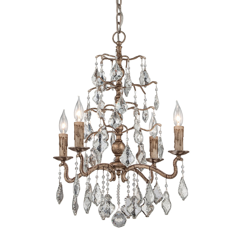 Troy Lighting F4743 Sienna 4lt Chandelier Small in Hand-Worked Iron