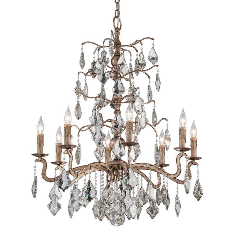 Troy Lighting F4745 Sienna 8lt Chandelier Large in Hand-Worked Iron