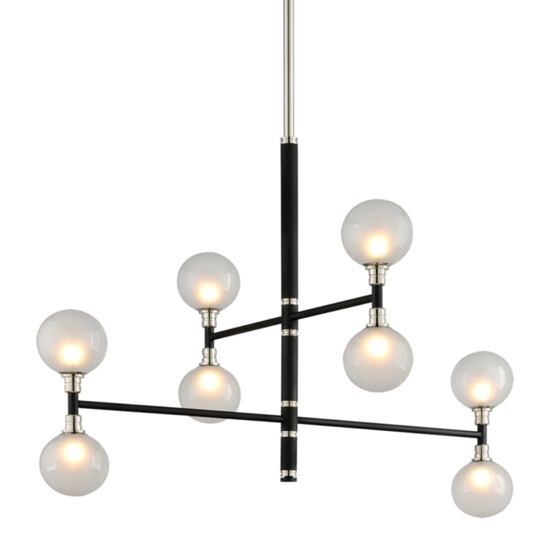 Troy Lighting F4825 Andromeda 8lt Chandelier 2 Tier in Hand-Worked Iron