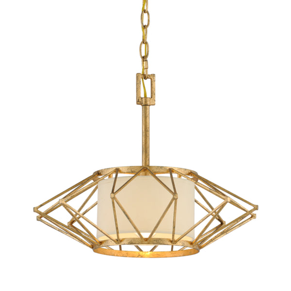 Troy Lighting F4863 Calliope 1lt Pendant Small in Hand-Worked Iron