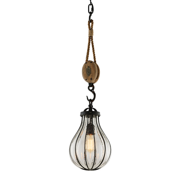 Troy Lighting F4904 Murphy 1lt Pendant Small in Hand-Worked Iron