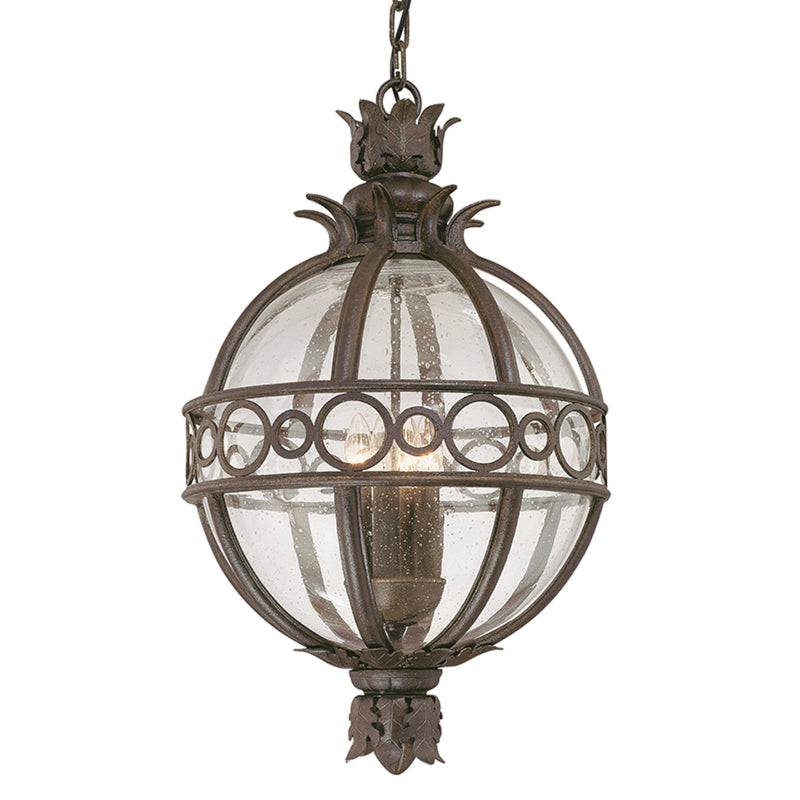 Troy Lighting F5008CB Campanile 3lt Hanging Lantern Large in Hand-Worked Iron And Aluminum
