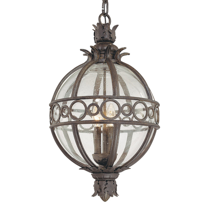 Troy Lighting F5009CB Campanile 4lt Hanging Lantern Extra Large in Hand-Worked Iron And Aluminum
