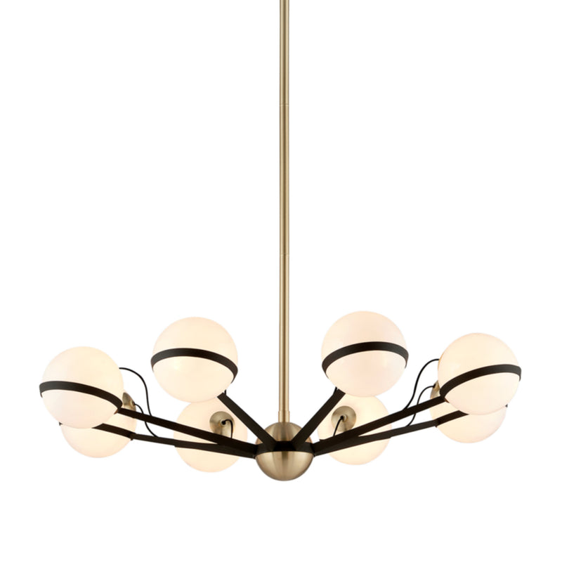 Troy Lighting F5304 Ace 8lt Chandelier Medium in Hand-Worked Iron