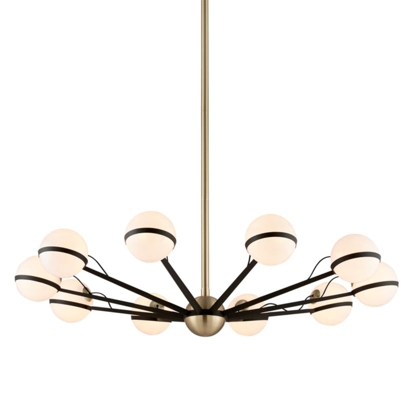 Troy Lighting F5306 Ace 10lt Chandelier Large in Hand-Worked Iron